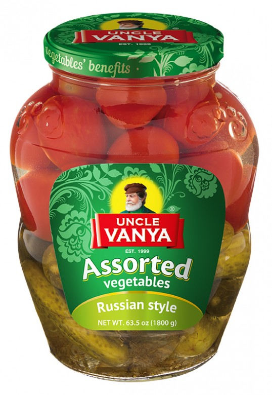 Assorted vegetables 1800 g jar