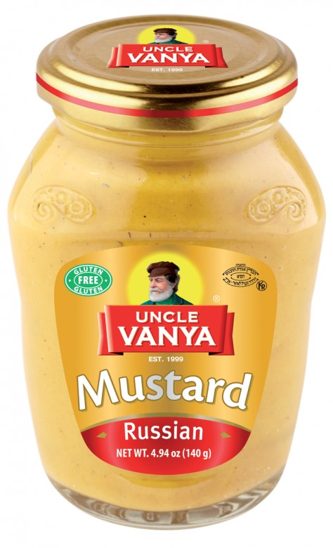 Mustard Russian 140 g glass bottle