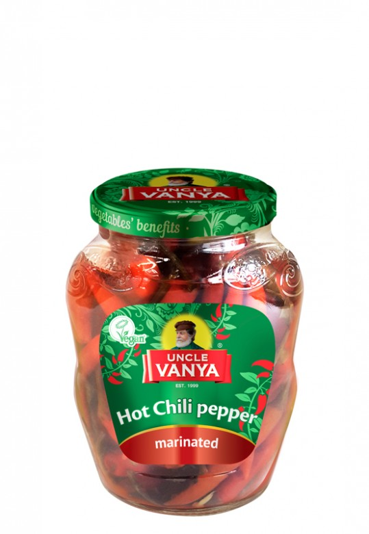 Hot Chili Pepper Marinated 350 ml jar