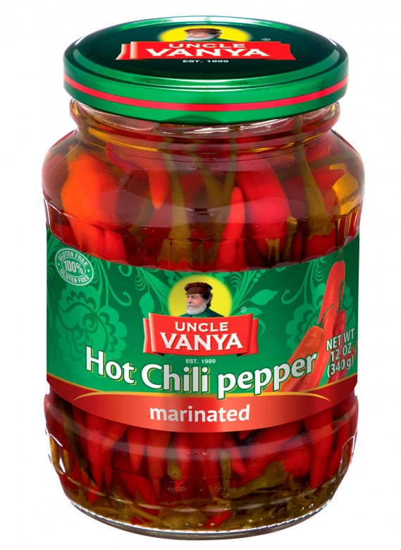 Hot Chili Pepper Marinated 370 ml glass bottle