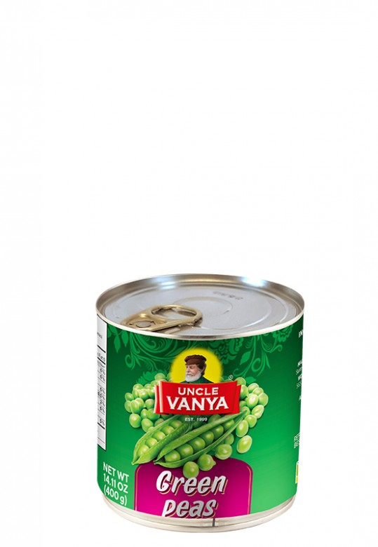 Green peas 400 g metal can