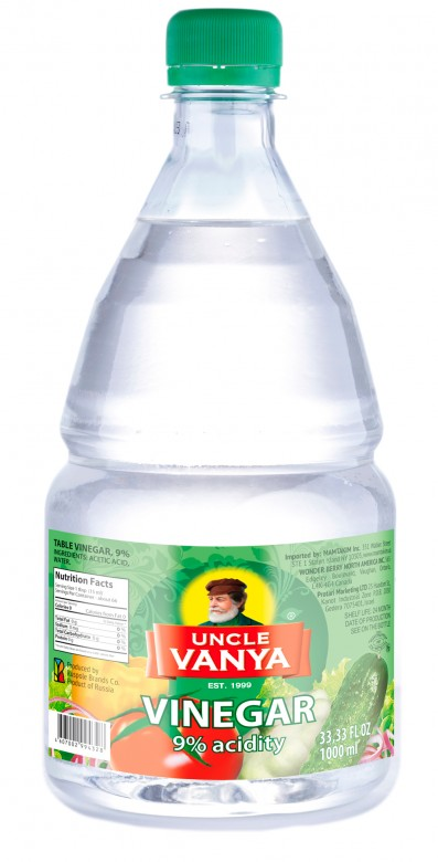 Vinegar 9% 1000 ml plastic bottle