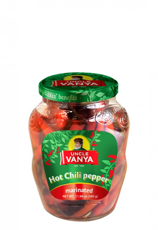 Hot Chili Pepper Marinated 350 g jar